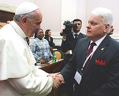 With Pope Francis at the Vatican